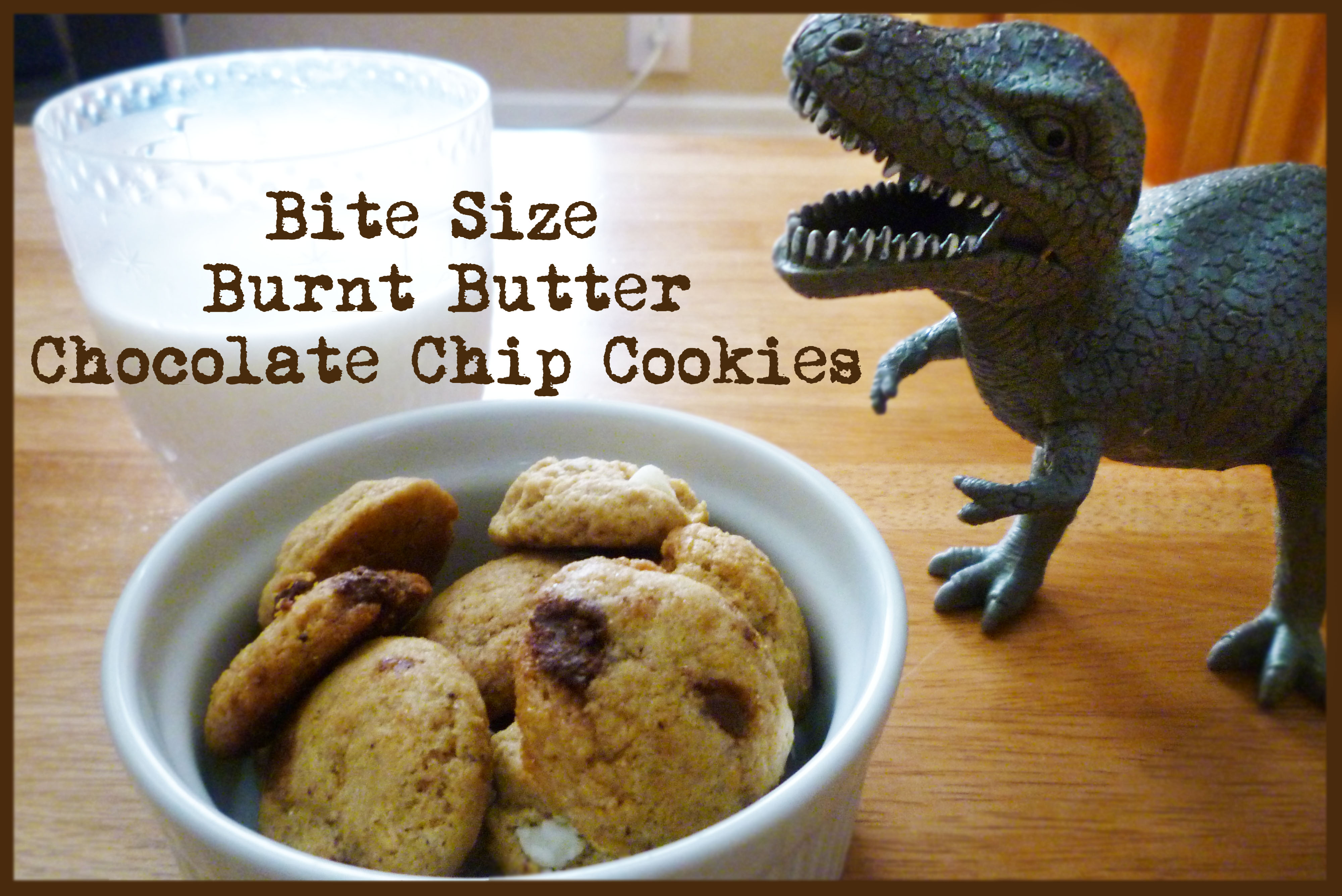 Bite Size Burnt Butter Chocolate Chip Cookies