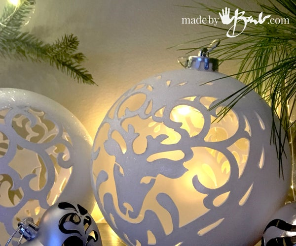 Hand Cut Filigree Christmas Ornaments