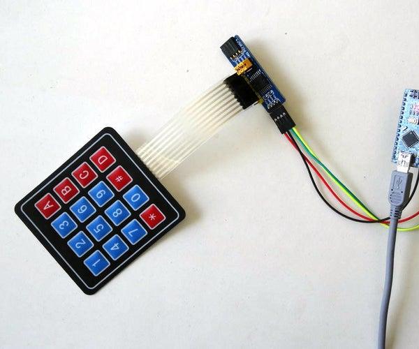 Arduino Nano: I2C Matrix Keypad With PCF8574/PCF8574A GPIO and Visuino