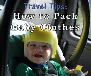 带婴儿旅行的提示:包装婴儿衣服