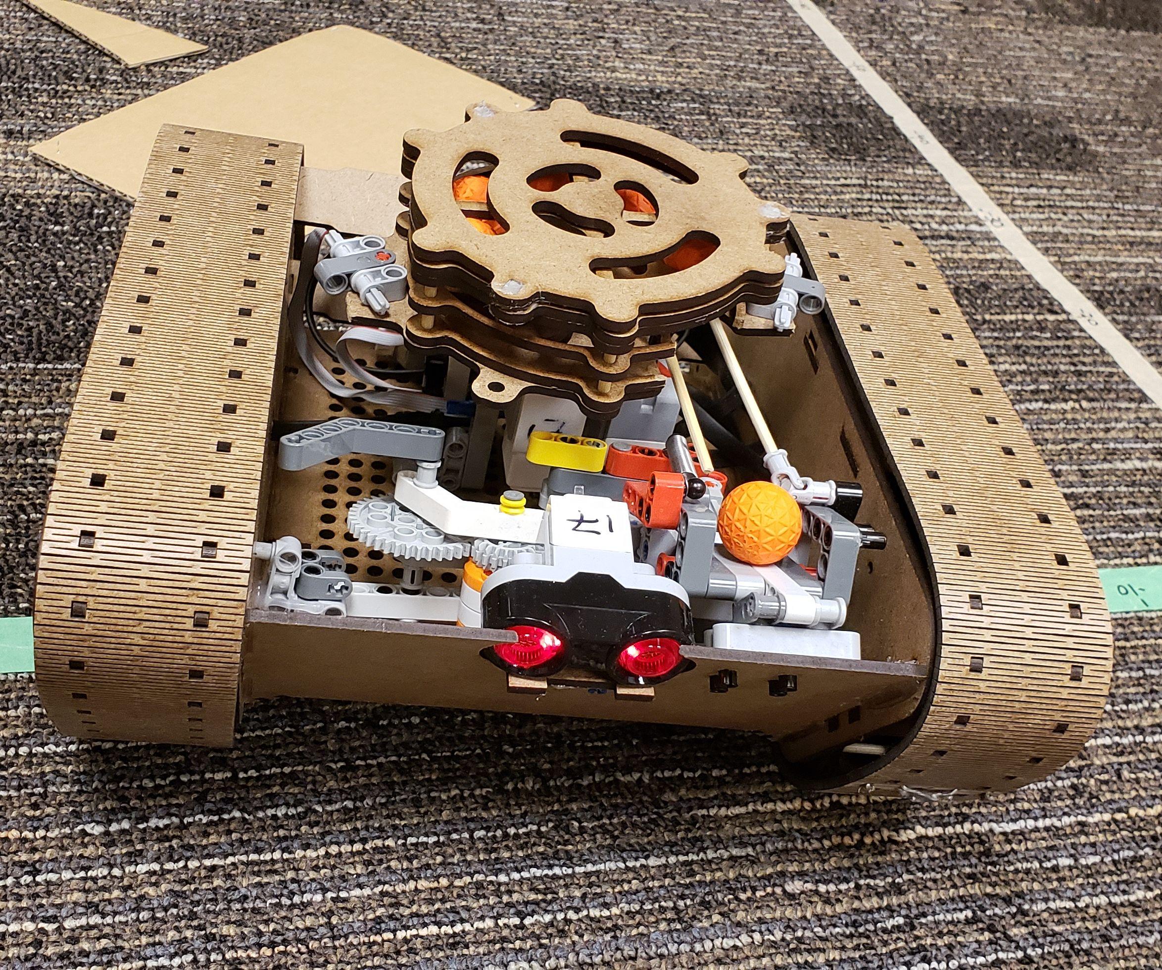 Laser Cut Nerf Ball Shooting Lego EV3 Tank