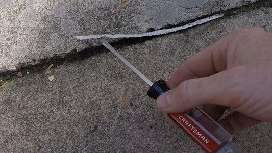 Concrete Repair With Hot Glue