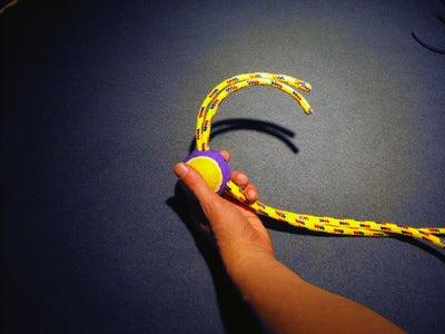 Feed Rope Thru Tennis Ball