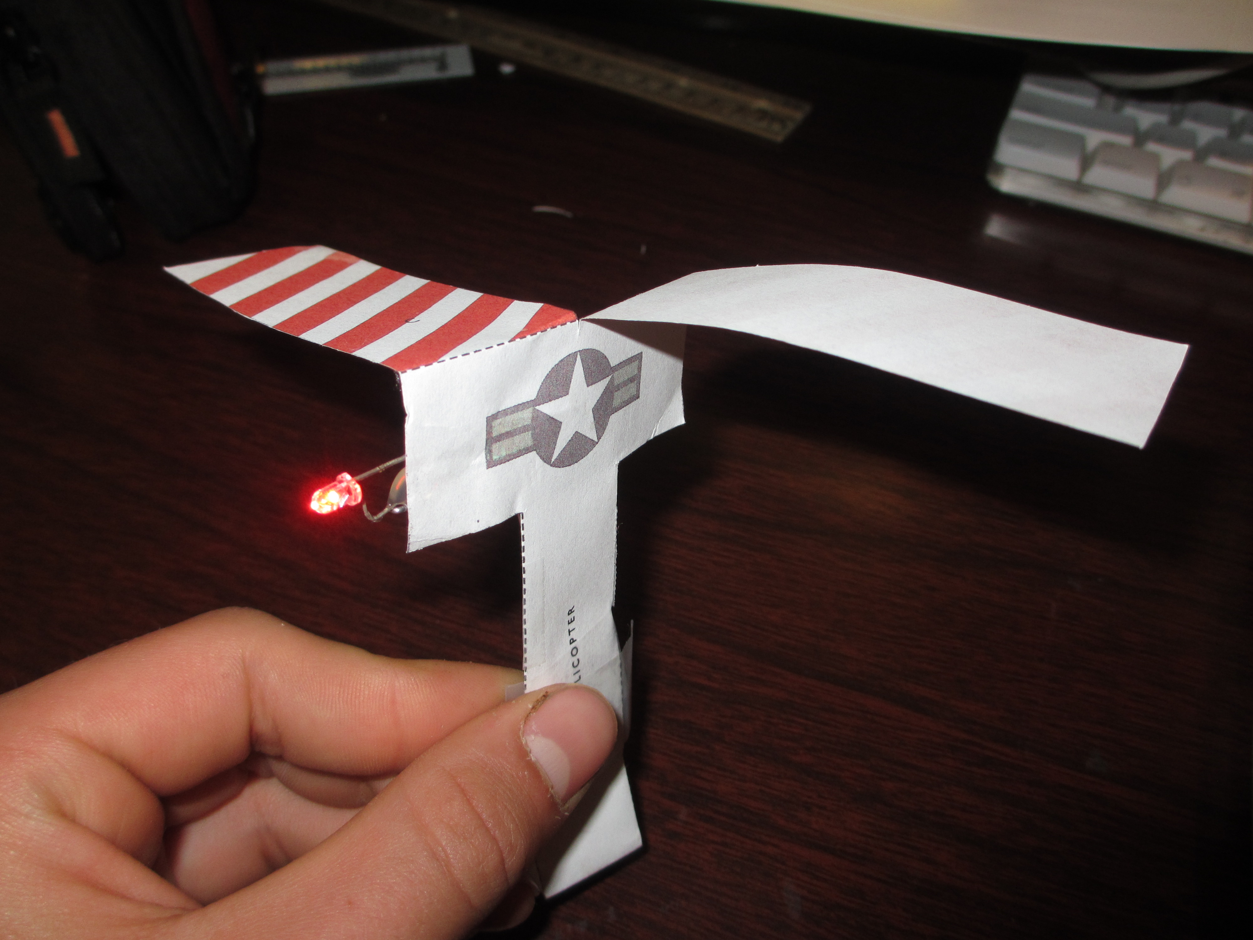 LED helicopter