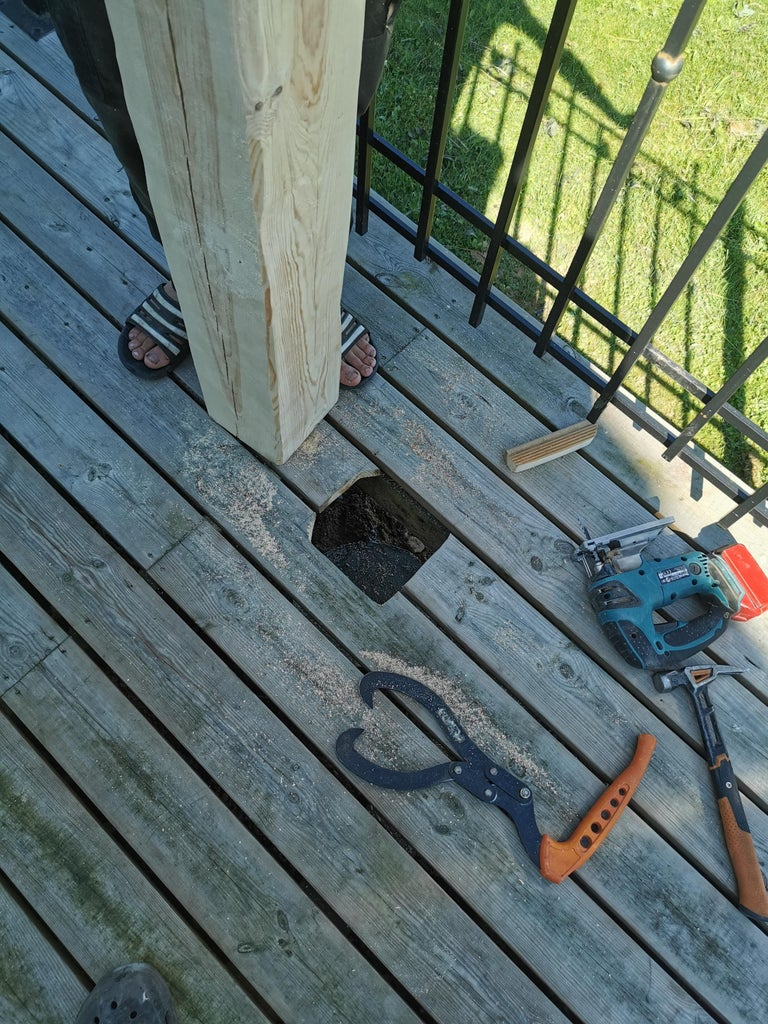 Prepping the Porch