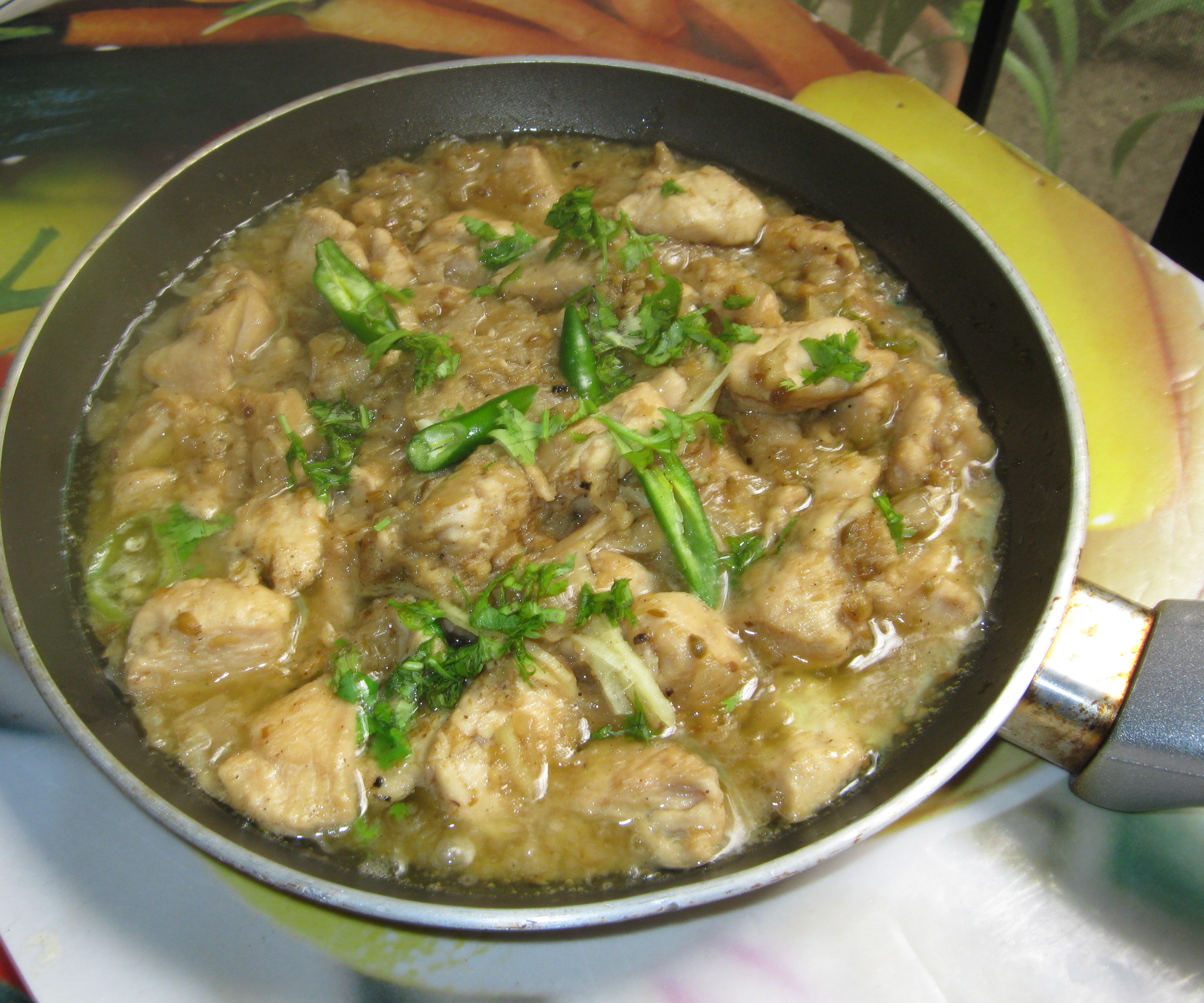 Pakistani White Chicken Boneless Handi