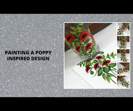 PAINTING a POPPY INSPIRED DESIGN