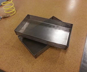 Perforated Sheet Metal Trays - Made @ TechShop