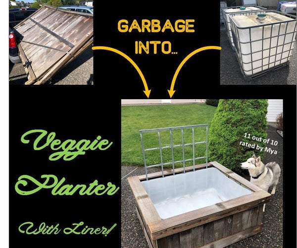 Veggie Planters - From an IBC Tote and Old Fence