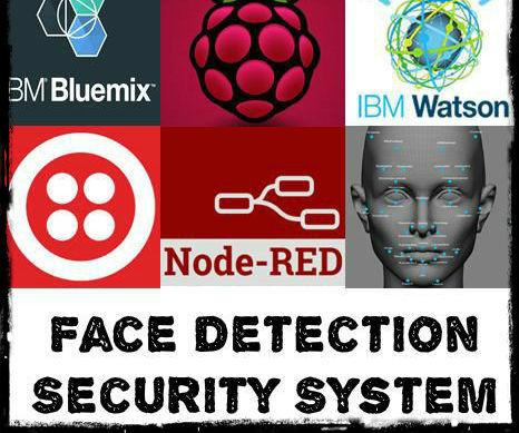 Face detection Security System using Pi, Node-red, IBM-Watson, Twilio, Email service