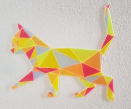 Polygon Cat With Acrylic