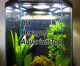 DIY LED Hood for a 20 Gallon Hexagon Aquarium Tank