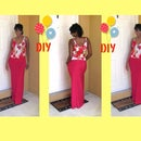 DIY Floral Tank Top With Maxi Skirt W/ Slit (EASY)