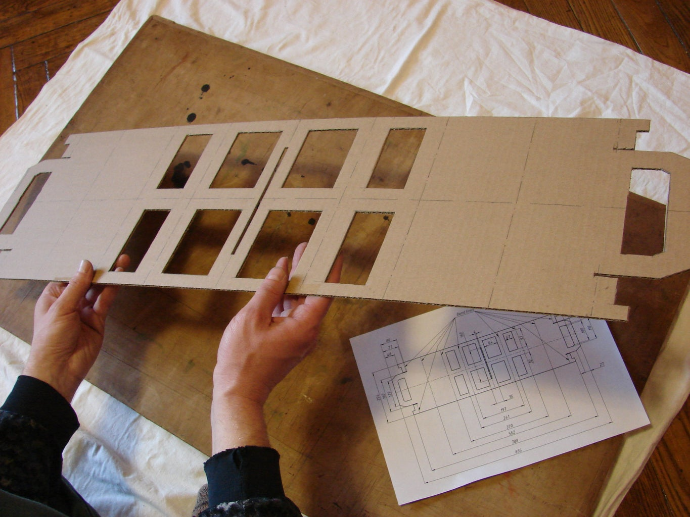 Cut Part Out of Cardboard