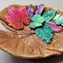How to Make Concrete Leaf Casting Bowl | Elephant Ear Cement Leaf  | Plaster of Paris Leaves.