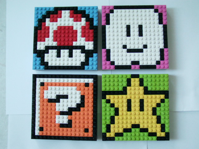 LEGO Mario Sprite Mosaics