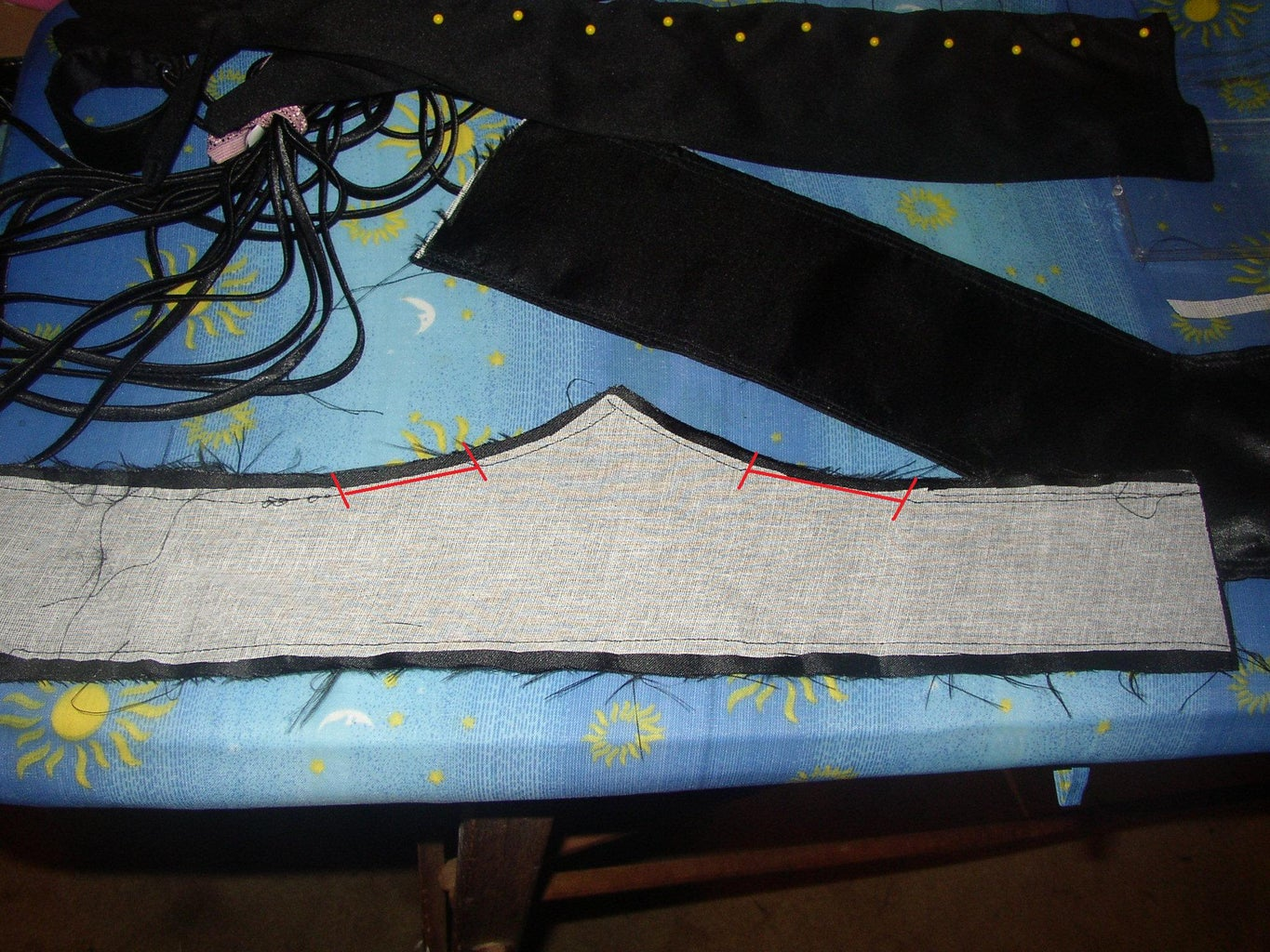 Beginning Neck Piece Sewing Strategy.