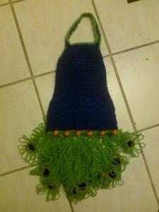 Crochet Girl's Peacock/ Vegas Showgirl Costume