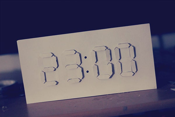 Digital/Analog Clock - Arduino + PaperCraft
