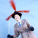 Inspector Gadget Costume with Motorized Helicopter