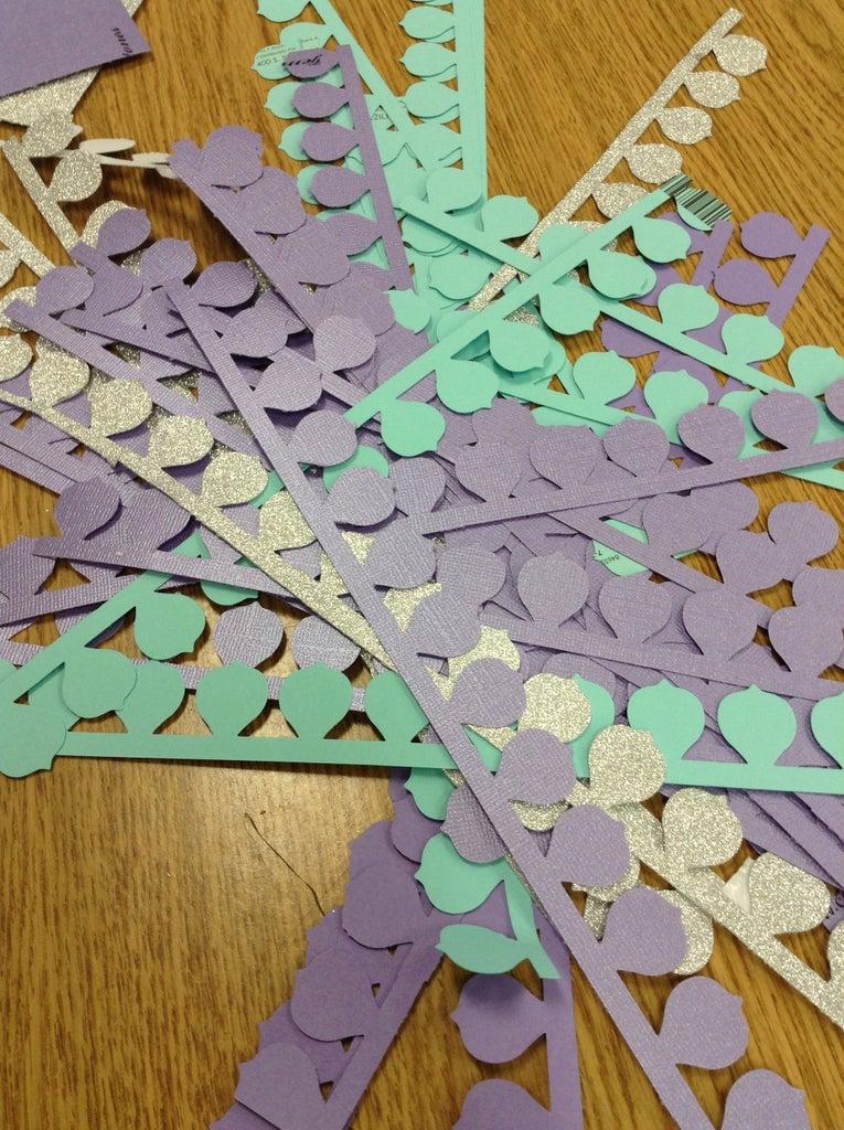 Creating Flower Paper Strips