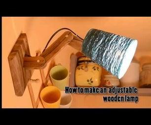 Wood Adjustable Lamp