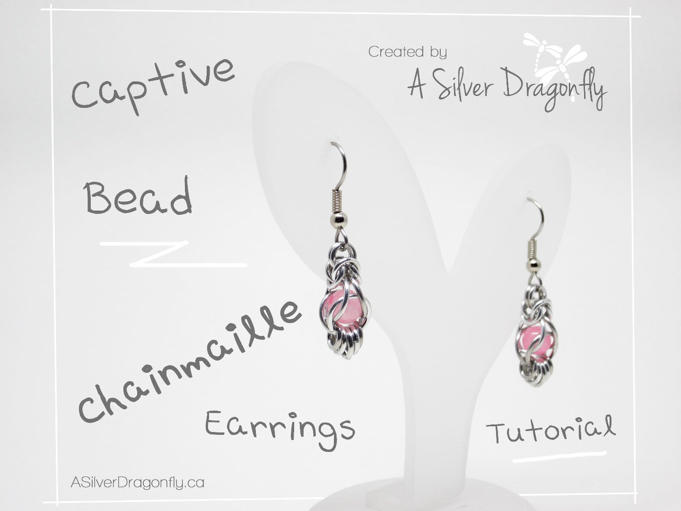 Captive Bead Chainmaille Earrings