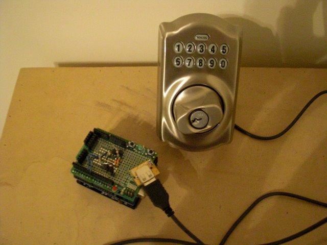 Control a Schlage electronic deadbolt with an arduino!