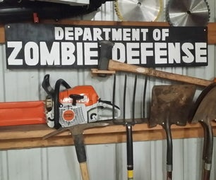 DIY Hand Painted Zombie Sign in Time for Halloween: How to Design, Letter, and Make