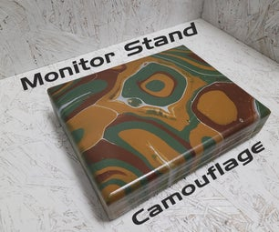 DIY Small Camouflage Monitor Stand