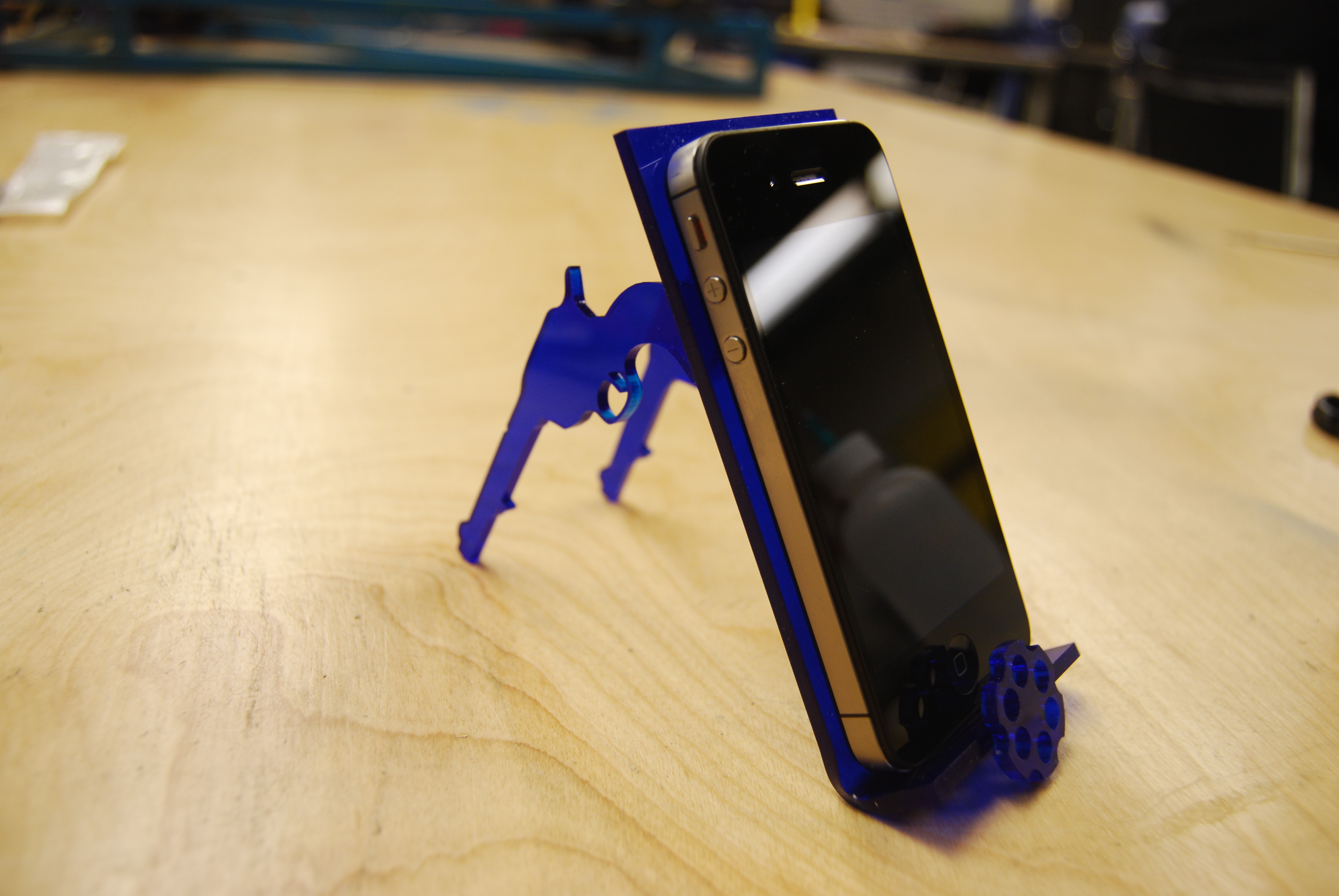 Build Your Own Revolver IPhone Stand