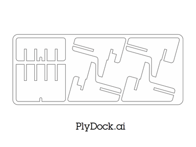 "Lasercut 1/8"" (0.3cm) Plywood or Acrylic Using Template"