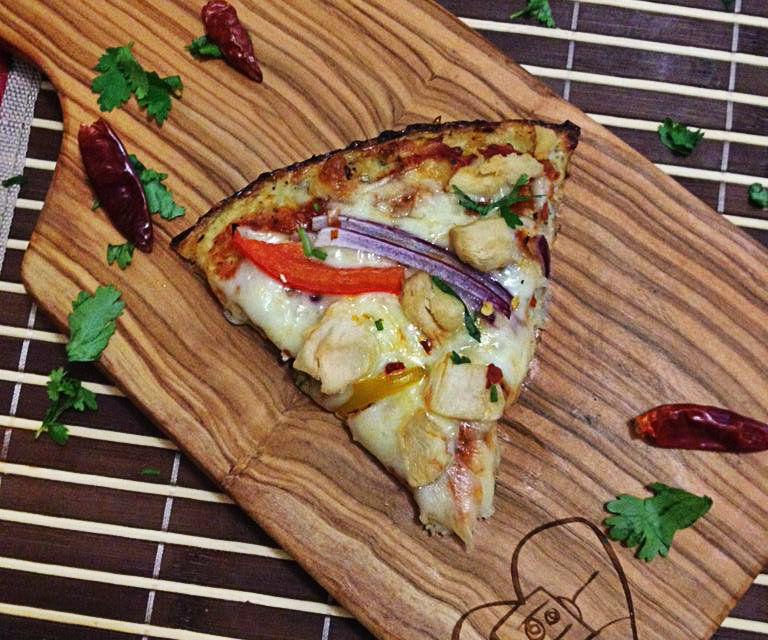 Cauliflower Crust Chicken Pizza