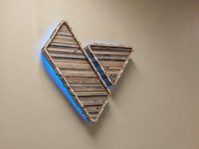 Wood LED Logo Sign