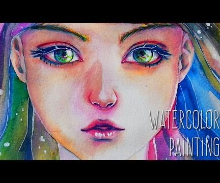Into My Soul - Watercolor Painting