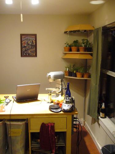 Kitchen Herb-Garden Shelving Unit