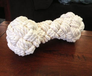 How to Make a Woven Rope Bone Dog Toy