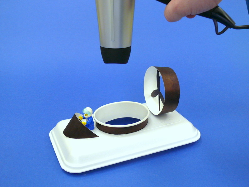 Paper coffee cup flying & controlled models of hovercrafts