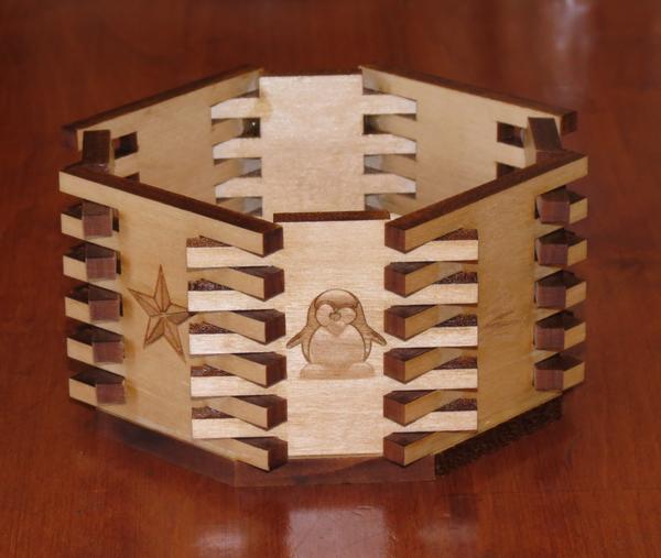 Octagonal Bowl (Box Joints)