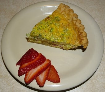 """""""Oink Oink"""" Bacon, Ham and Cheddar Quiche"""