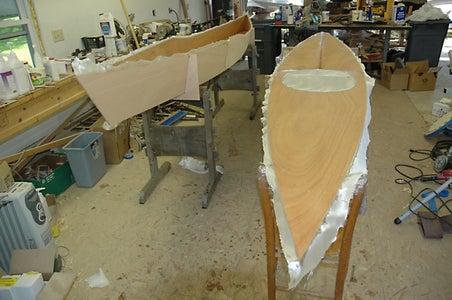 Fiberglassing the Deck