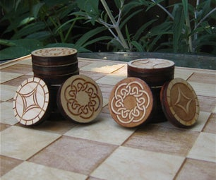 Laser Cut Two-Sided Checkers