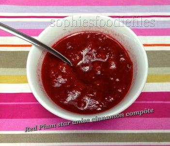 Vegan Wholegrain Oat Spelt Pancakes With Spiced Plum Compote