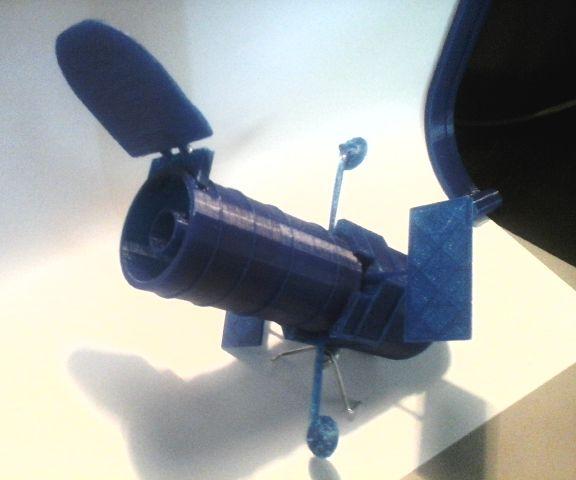 3d printed Hubble Telescope