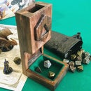Wooden Dice Tower (Magnetic, Foldable)