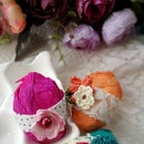 Romantic Crepe Paper Easter Eggs