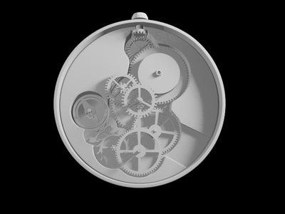 Mechanical Pocket Watch for 3D Print