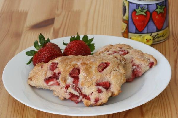 Fresh Strawberry Scones Recipe