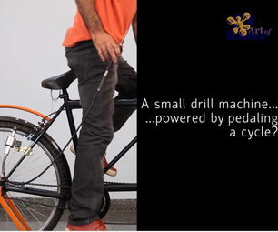 PEDAL POWERED DRILL