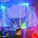 Video mapped LED Christmas trees